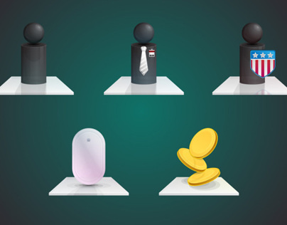 Glass Business Icons