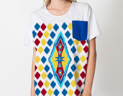 INDIAN pattern and illustration for tees and foulard