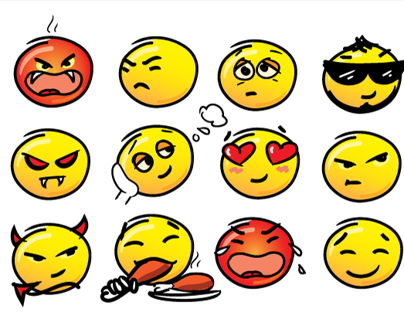 16 Cute Emoticons / Smileys