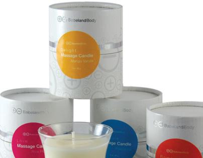 BabelandBody Massage Candles | packaging