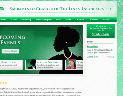 Sacramento Links Web Site Redesign