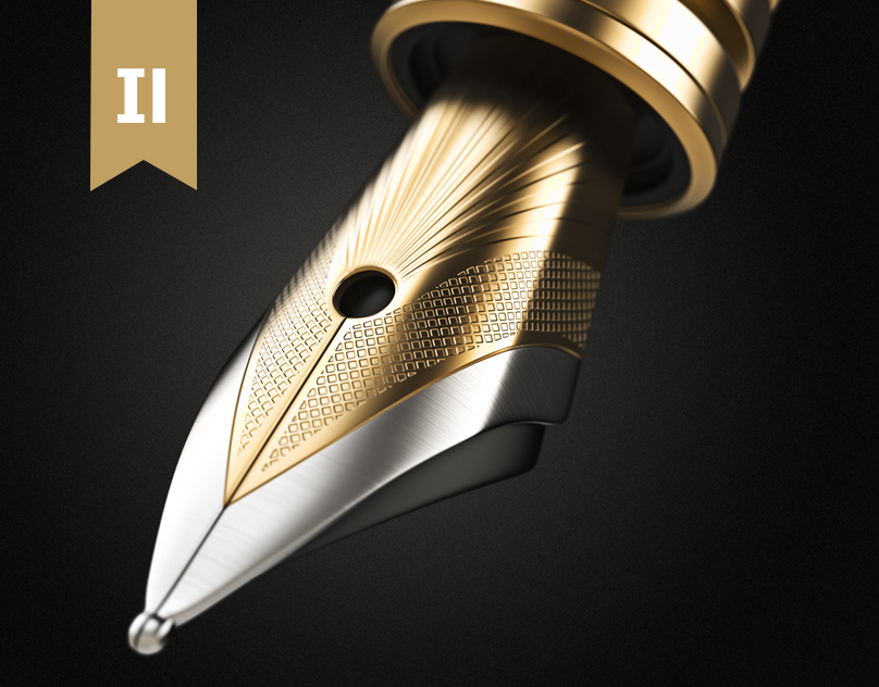 3d Golden Ink Pen