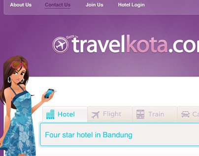 Travel Kota - Website UI & Character Design