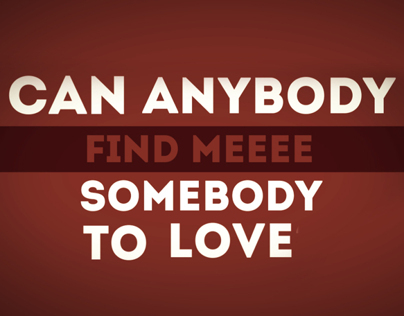 Kinect typography - Queen (somebody to love)