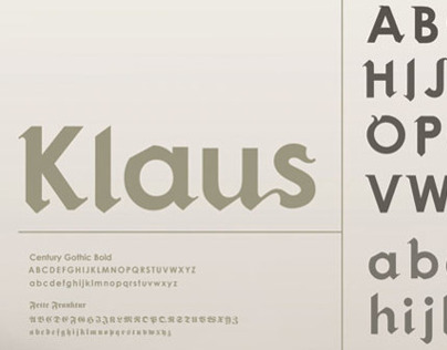 Klaus    a hybrid typeface.