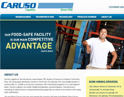 Caruso Logistics Website