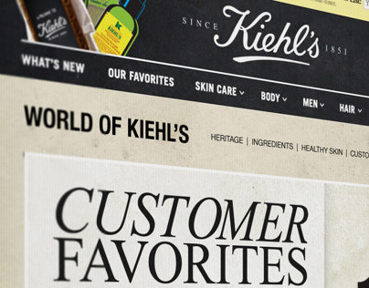 Kiehls Global Marketing Sites