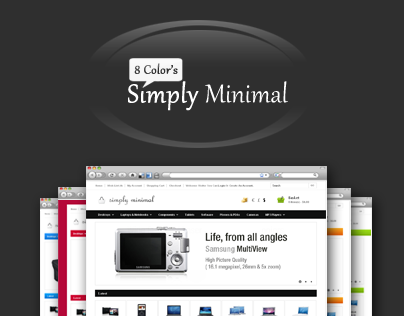 Simply Minimal Opencart Template in 8 Colors