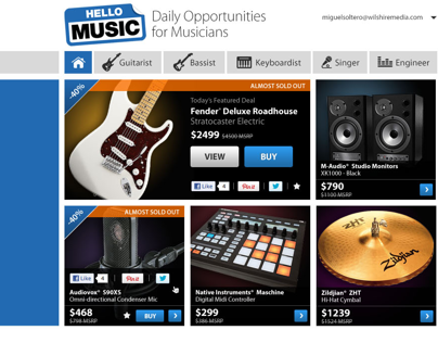 Hello Music Website Redesign