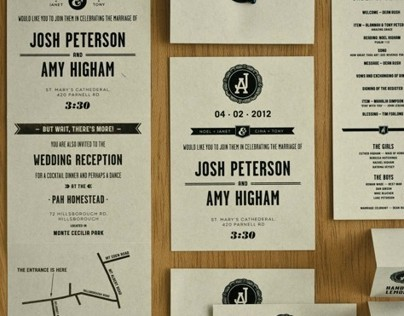 Josh & Amy — Wedding Stationery