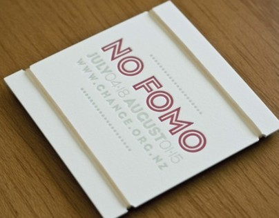 No FOMO — Letterpressed Card+Poster package