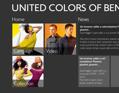 WINDOWS 8 - UNITED COLORS OF BENETTON
