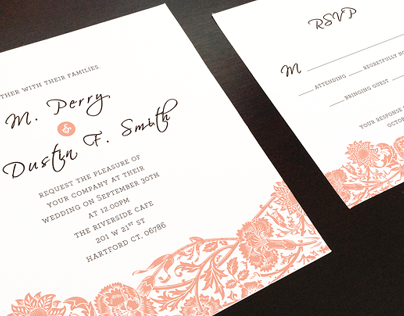 Wedding Invitation - Tina and Dustin