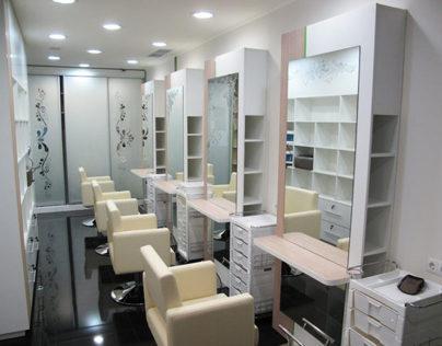 Endorphine beauty salon design and visualization