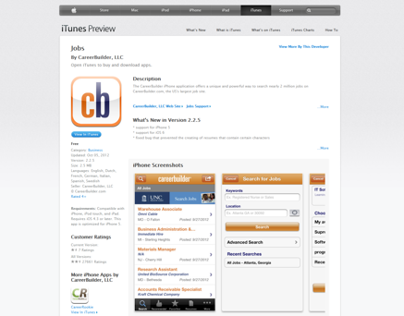 CareerBuilder Jobs iOS App - 2008