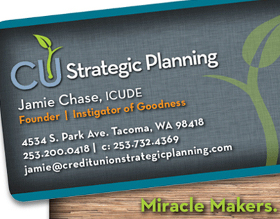 CU Strategic Planning Business Cards