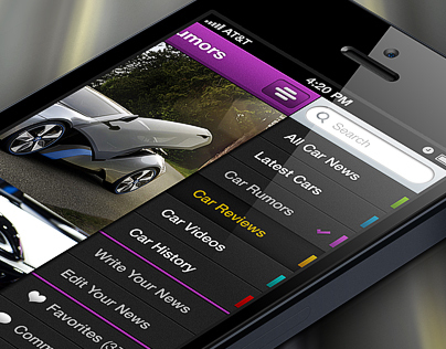 Car iPhone APP - Free PSD