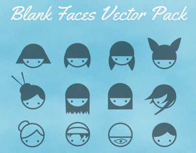 Blank Faces Vector Pack