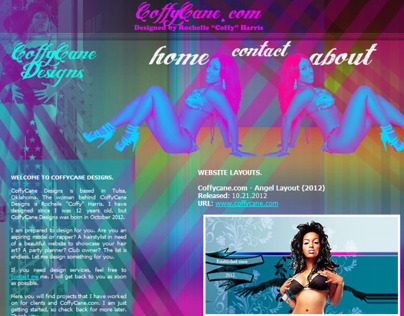 CoffyCaneDesigns.com Layout