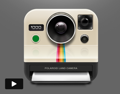 Watch A Polaroid App Icon Process Video