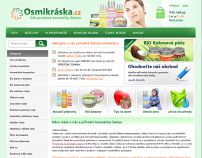 Osmikraska.cz - Shop with czech natural cosmetics