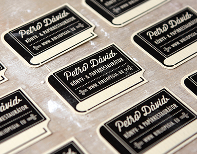 Dávid Petró book and paper restorer corporate identity