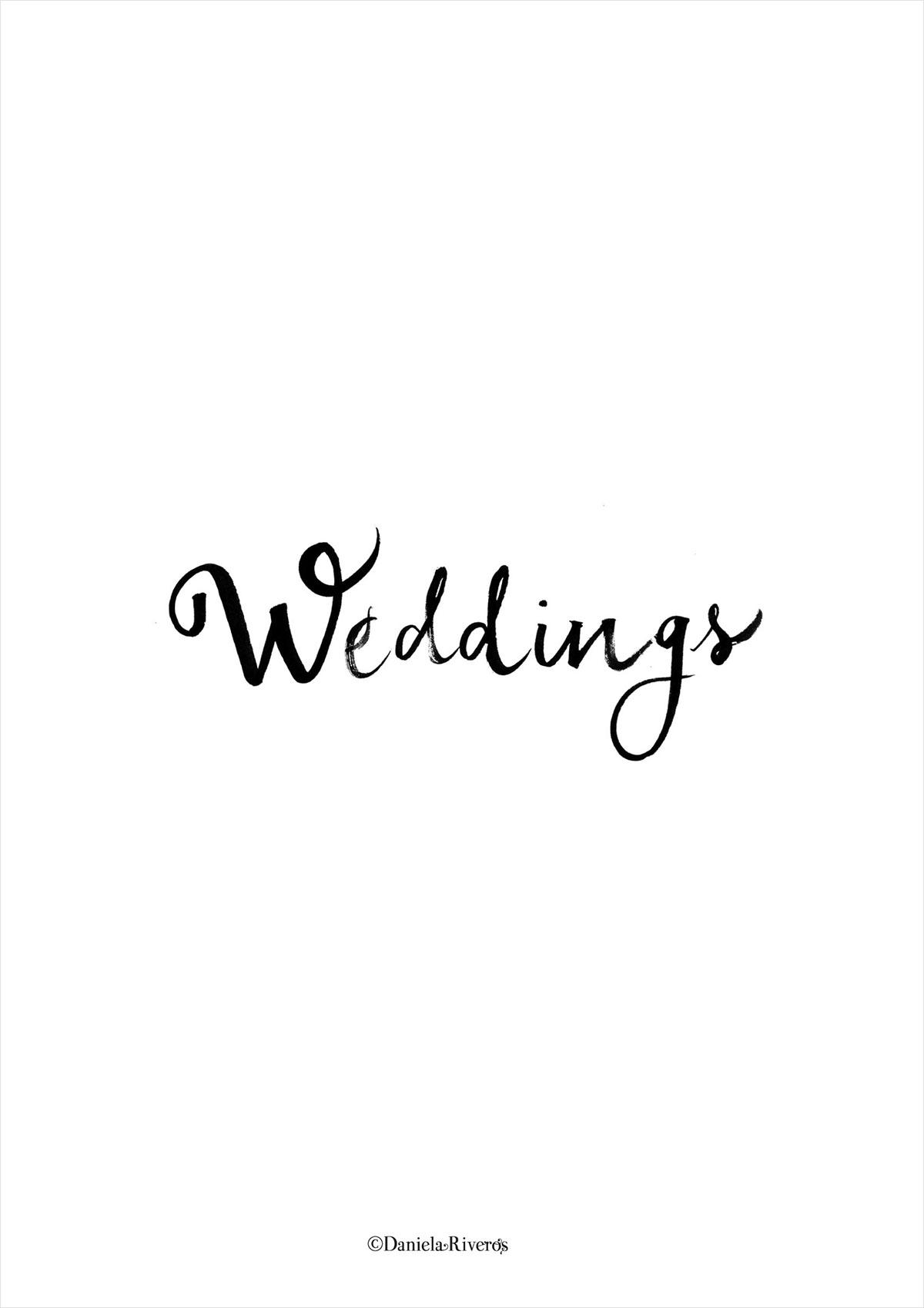 Wedding caligráfico