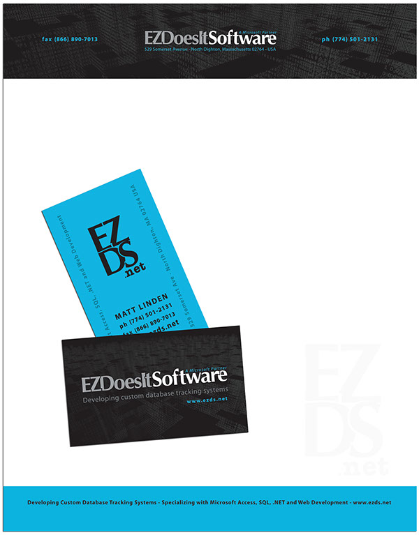 EZ DoesIt Software Logo and Business Collateral Design