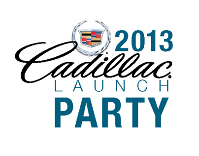 Cadillac Launch Party Graphic and Invitation