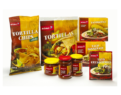 Private Label TexMex line, RIMI Norway