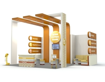 Booth design for Leon-Service plus, Aqua Therm 2012