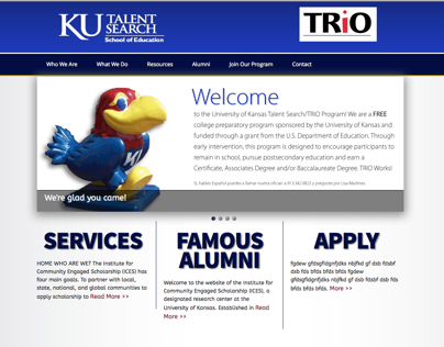 KU Talent Search Website [Prelim]