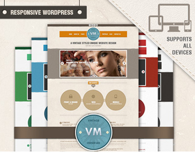 Vintage Responsive Wordpress Theme