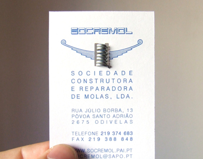SOCREMOL Business Card