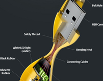 MS ind. USB Flash concept + brochure design