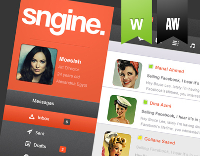 Sngine Network UI