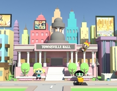 Autodesk Maya 3D project - Powerpuff Girls