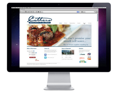 Cotters Restaurant at the Arena | Website Design