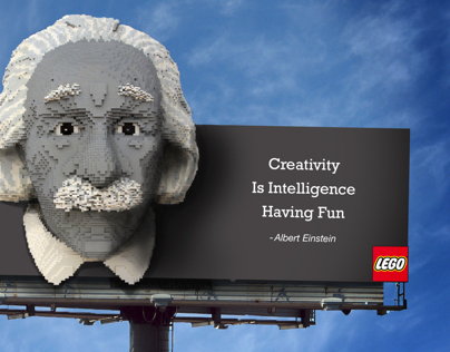 Lego Outdoor Board Campaign With Concept Sketches