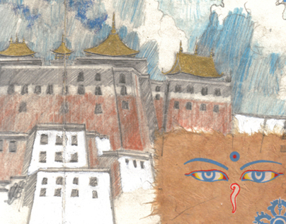 Tibet panoramic sketchbook