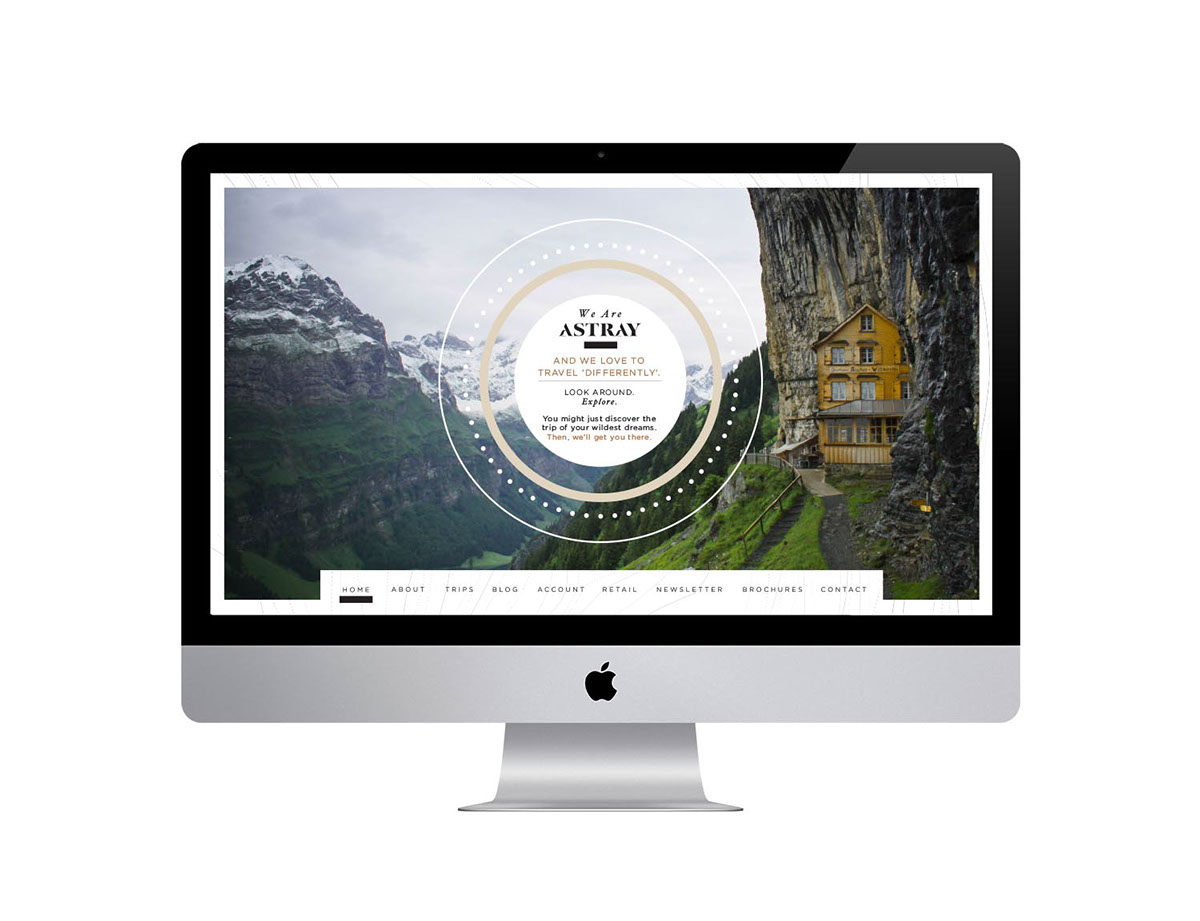 Astray Travel Co : Branding, Website & App