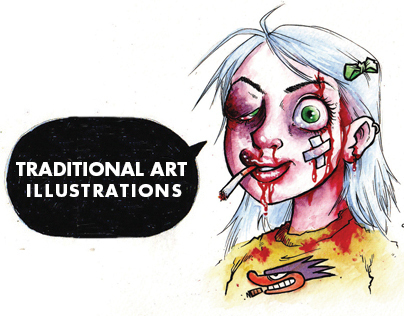 Traditional Art Illustrations