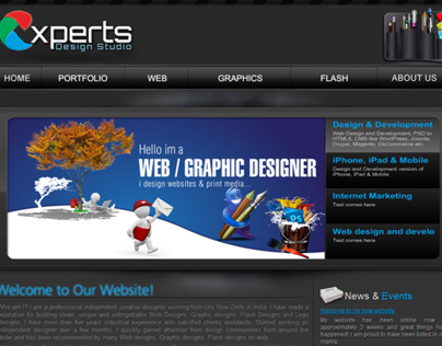 Experts Design studio Complete web Design Development