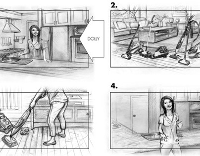 Ariette steam mops - Storyboards