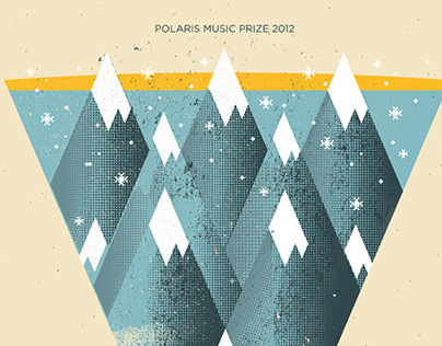 Polaris Music Prize hand-screened poster