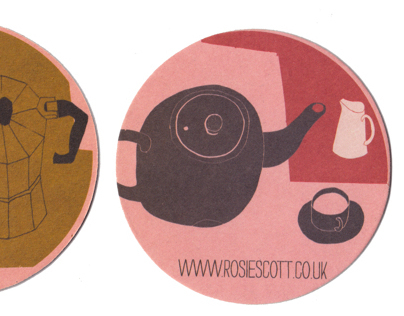 Beer mat tea and coffee coasters