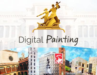 Digital Paintings - Social Game : Globetrot.