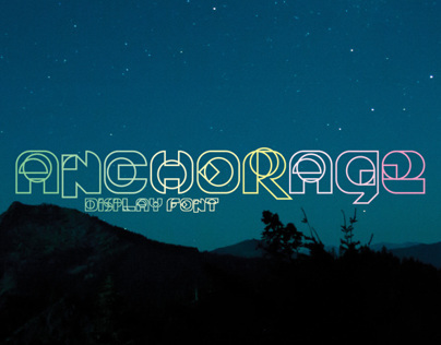 ANCHORAGE Display Font