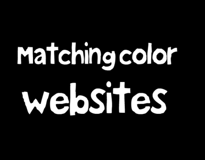 Matching color websites.