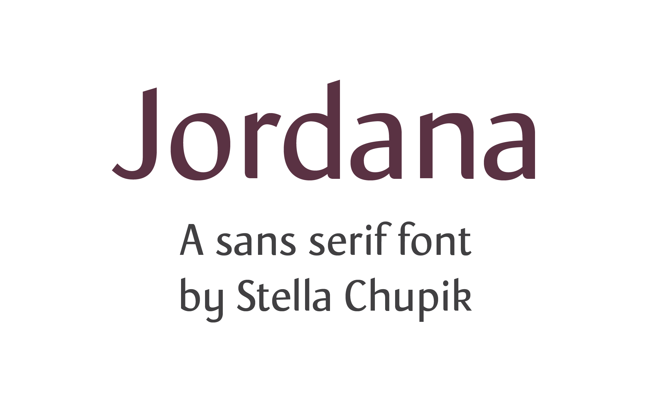 Jordana Font work in progress (lowercase)